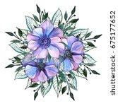 hand painted watercolor... | Shutterstock . vector #675177652