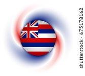 hawaiian flag badge on twisted...   Shutterstock .eps vector #675178162