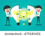 completing idea. business... | Shutterstock .eps vector #675181432