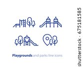 playground and park location... | Shutterstock .eps vector #675181585