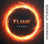 realistic round light fire... | Shutterstock .eps vector #675182656