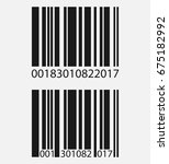 realistic barcode icon isolated ... | Shutterstock .eps vector #675182992
