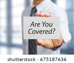 business man holding paper... | Shutterstock . vector #675187636