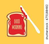 one whit slice spread vector...   Shutterstock .eps vector #675188482