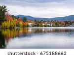 buildings among colourful trees ... | Shutterstock . vector #675188662