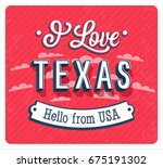 vintage greeting card from... | Shutterstock .eps vector #675191302