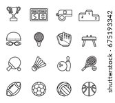 sport icon set. line style... | Shutterstock .eps vector #675193342