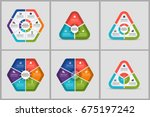 business infographics bundle | Shutterstock .eps vector #675197242