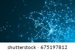 abstract connected dots on... | Shutterstock . vector #675197812