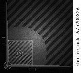 realistic black denim texture... | Shutterstock .eps vector #675200326