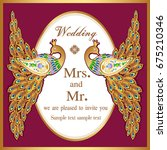 wedding invitation or card with ... | Shutterstock .eps vector #675210346