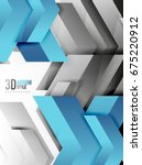 techno arrow background  vector ... | Shutterstock .eps vector #675220912