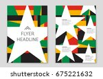 abstract vector layout... | Shutterstock .eps vector #675221632