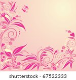 pink greeting card | Shutterstock .eps vector #67522333