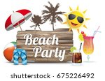 cocktails  sun  sunshade and... | Shutterstock .eps vector #675226492