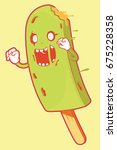 ice cream zombie. vector... | Shutterstock .eps vector #675228358