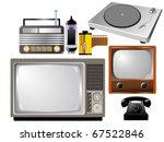 set of vintage technics | Shutterstock .eps vector #67522846