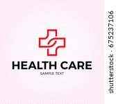 health care medical logo design ... | Shutterstock .eps vector #675237106