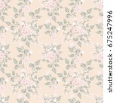 floral seamless pattern with...   Shutterstock . vector #675247996