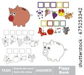 educational puzzle game for... | Shutterstock .eps vector #675253342