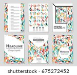 abstract vector layout... | Shutterstock .eps vector #675272452
