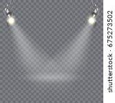modern floodlight design with... | Shutterstock .eps vector #675273502
