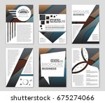 abstract vector layout...   Shutterstock .eps vector #675274066