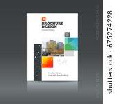 brochure cover design layout...   Shutterstock .eps vector #675274228