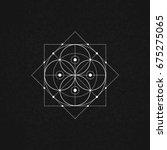 sacred geometry. vector... | Shutterstock .eps vector #675275065