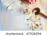 baking cookies or biscuits.... | Shutterstock . vector #67528396
