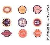 sales badges vector... | Shutterstock .eps vector #675284926