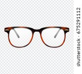 realistic fashion glasses with... | Shutterstock .eps vector #675291112