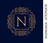 elegant monogram design... | Shutterstock .eps vector #675292678