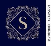 elegant monogram design... | Shutterstock .eps vector #675292705