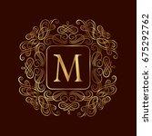 elegant monogram design... | Shutterstock .eps vector #675292762