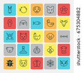 zoo icons set. collection of... | Shutterstock .eps vector #675304882