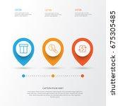 e commerce icons set.... | Shutterstock .eps vector #675305485
