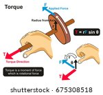 torque example physics lesson... | Shutterstock . vector #675308518