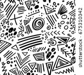 vector abstract marker colorful ... | Shutterstock .eps vector #675310342