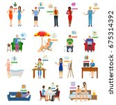 online shopping internet buying ... | Shutterstock .eps vector #675314392