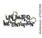 unlimited imagination.  font.... | Shutterstock .eps vector #675321982
