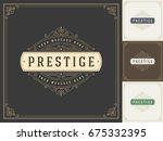 ornament logo design template... | Shutterstock .eps vector #675332395