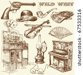 hand drawn wild west collection | Shutterstock .eps vector #67533316