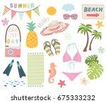 summer holiday    Shutterstock .eps vector #675333232