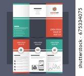 creative tri fold brochure ...   Shutterstock .eps vector #675334075