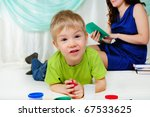 a little boy and his mom are... | Shutterstock . vector #67533625