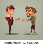 happy smiling rich man... | Shutterstock .eps vector #675338005