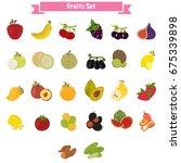 big set of different sweet...   Shutterstock .eps vector #675339898