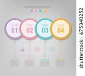 infographic template of... | Shutterstock .eps vector #675340252