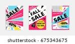 flat design black big sale... | Shutterstock .eps vector #675343675
